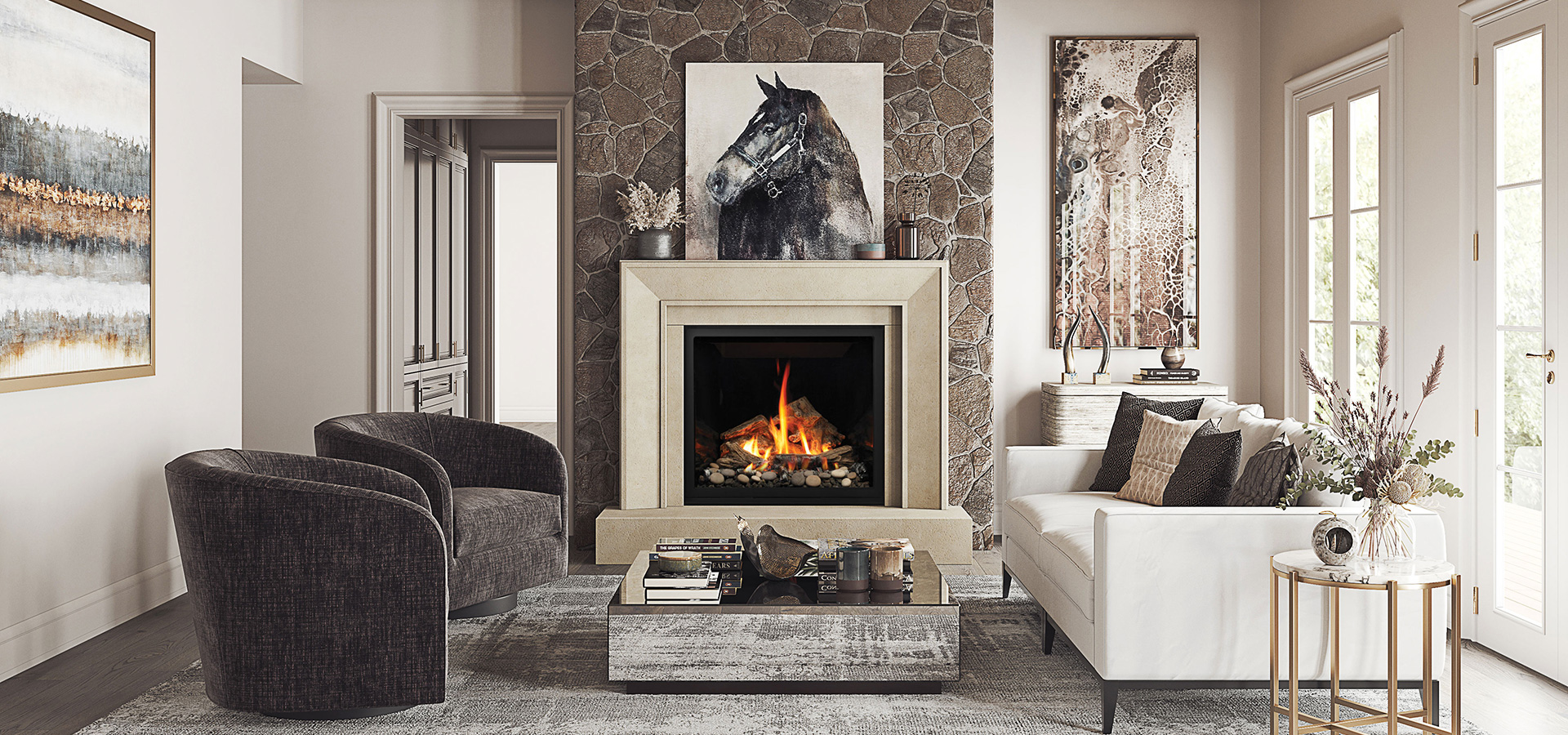 4116.8-GS & Bentley39 Marquis Gas Fireplace